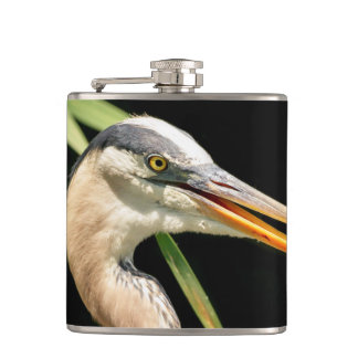 Great Blue Heron Hip Flask