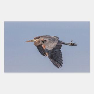 Great Blue Heron in flight Sticker