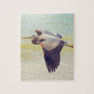 Great blue heron jigsaw puzzle