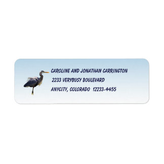 Great Blue Heron Return Address Label