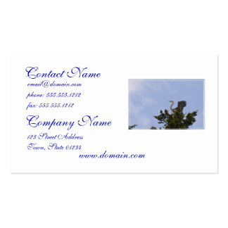 Great Blue Heron Landing on Nest Business Card Template