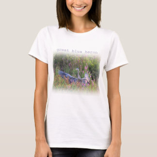 Great Blue Heron landing T-Shirt