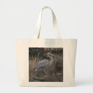 Great Blue Heron Large Tote Bag
