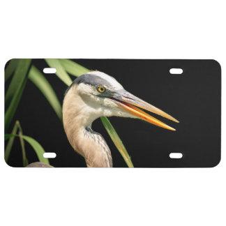 Great Blue Heron License Plate