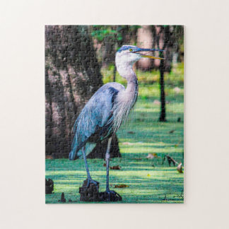 Great Blue Heron Louisana. Jigsaw Puzzle