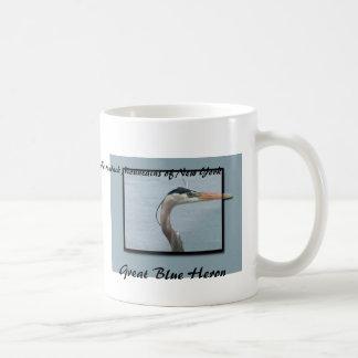 Great Blue Heron Classic White Coffee Mug