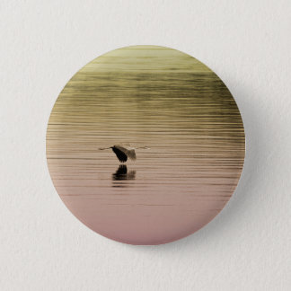 Great Blue Heron on Gradient Background 2 Inch Round Button