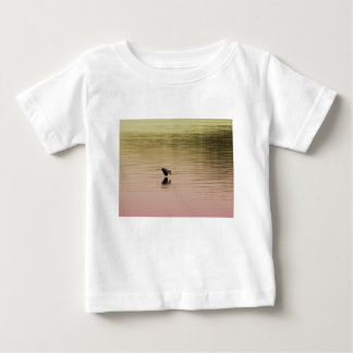 Great Blue Heron on Gradient Background Baby T-Shirt
