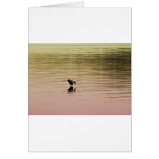 Great Blue Heron on Gradient Background Card