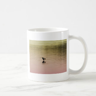 Great Blue Heron on Gradient Background Coffee Mug