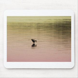 Great Blue Heron on Gradient Background Mouse Pad