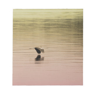 Great Blue Heron on Gradient Background Notepads