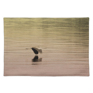 Great Blue Heron on Gradient Background Placemat