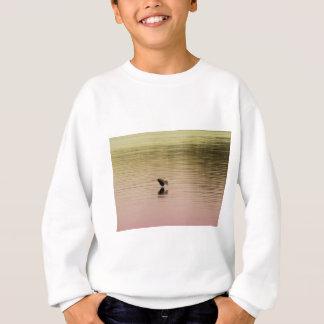 Great Blue Heron on Gradient Background Sweatshirt