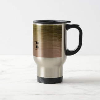 Great Blue Heron on Gradient Background Travel Mug