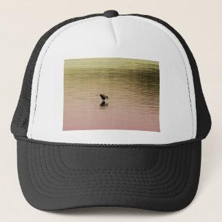 Great Blue Heron on Gradient Background Trucker Hat