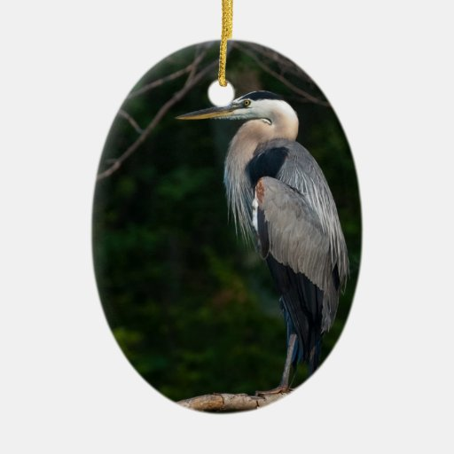 Great Blue Heron Christmas Tree Ornament
