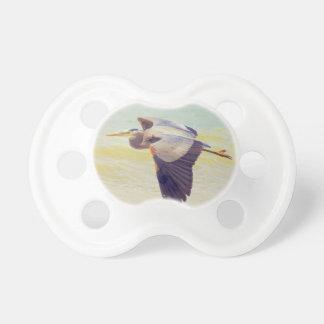 Great blue heron pacifier
