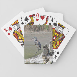 Great Blue Heron Playing Cards