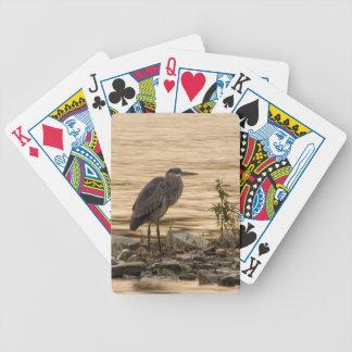 Great Blue Heron Bicycle Poker Deck