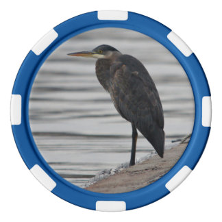 Great Blue Heron Poker Chip Set Of Poker Chips