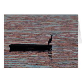 Great Blue Heron Silouhette Card
