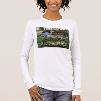 Great Blue Heron, Sound of Wings Studio Long Sleeve T-Shirt