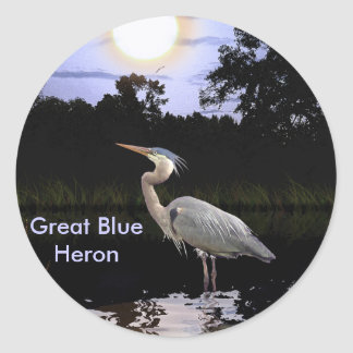 GREAT BLUE HERON Stickers