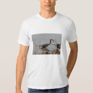 great blue heron t-shirts