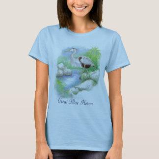 Great Blue Heron Totem T-Shirt