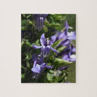 Great Blue Lobelia (Lobelia siphilitica) Jigsaw Puzzle