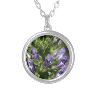 Great Blue Lobelia (Lobelia siphilitica) Silver Plated Necklace
