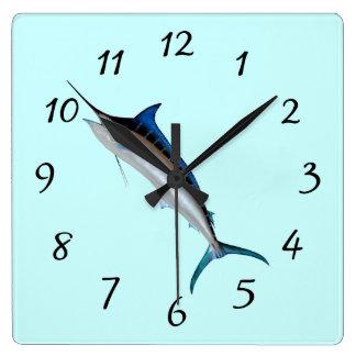 Great Blue Marlin Wall Clock