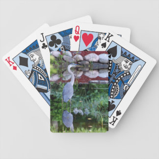 Great Blue Zen Bicycle Playing Cards