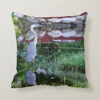 Great Blue Zen Throw Pillow