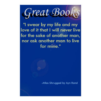 """great books, """"I swear by my life and my l... Poster"""