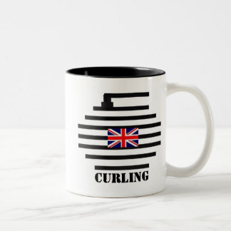 Great Britain Curling Two-Tone Coffee Mug