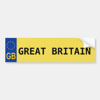 Great Britain E.U. License Plate Sticker