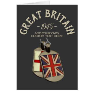Great Britain English Dog Tags Custom Card