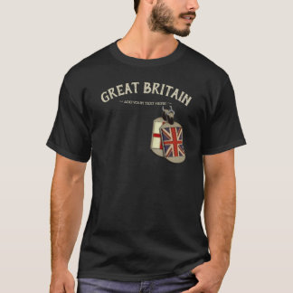 Great Britain English Dog Tags T-Shirt