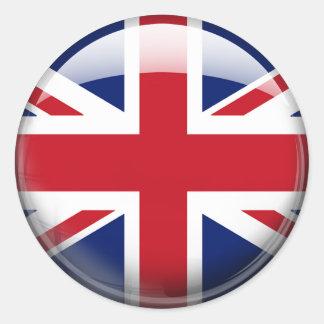 Great Britain Flag Classic Round Sticker