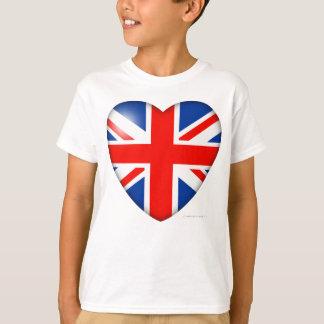 Great Britain Flag Heart T-Shirt