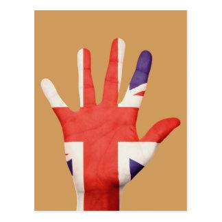Great Britain flag postcard
