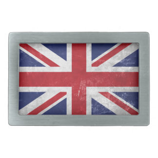 Great Britain Flag Rectangular Belt Buckle