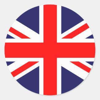 Great Britain Flag Round Stickers