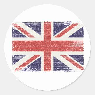 Great Britain flag vintage Classic Round Sticker
