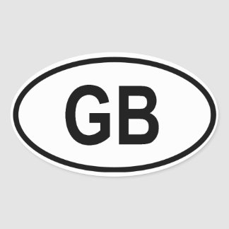 "Great Britain ""GB"" Oval Sticker"