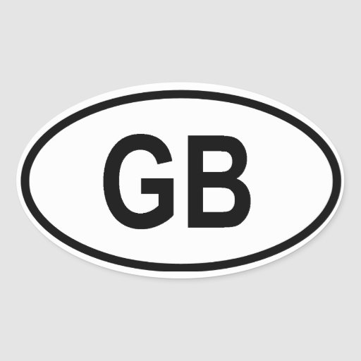 "Great Britain ""GB"" Oval Stickers"