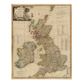 Great Britain, Ireland Poster