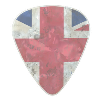 Great Britain Pearl Celluloid Guitar Pick